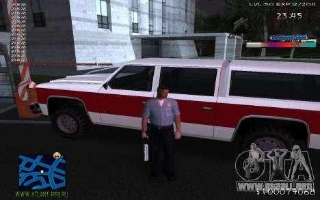 С-HUD de Adidas para GTA San Andreas tercera pantalla