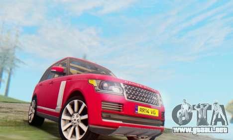 Range Rover Vogue 2014 V1.0 UK Plate para GTA San Andreas