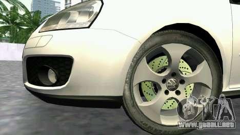 Volkswagen Golf V GTI para GTA Vice City visión correcta