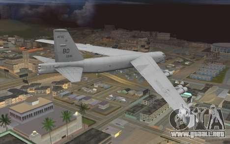 Boeing B-52H Stratofortress para GTA San Andreas left