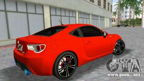 Toyota GT86 para GTA Vice City left