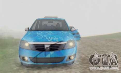 Dacia Logan Blue Star para la vista superior GTA San Andreas