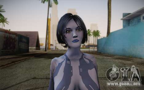 Cortana from Halo 4 para GTA San Andreas tercera pantalla