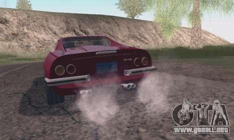 Ferrari Dino 246 GTS Coupe para GTA San Andreas vista hacia atrás