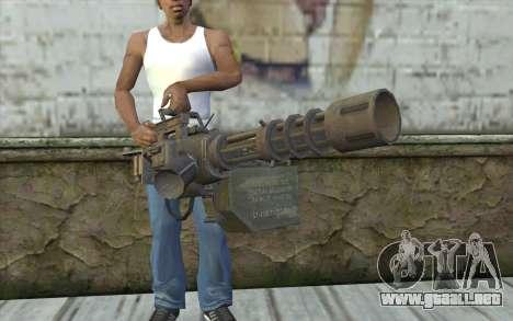 Minigun con una tienda para GTA San Andreas tercera pantalla