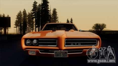 Pontiac GTO The Judge Hardtop Coupe 1969 para vista lateral GTA San Andreas