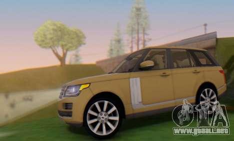 Range Rover Vogue 2014 V1.0 SA Plate para GTA San Andreas left