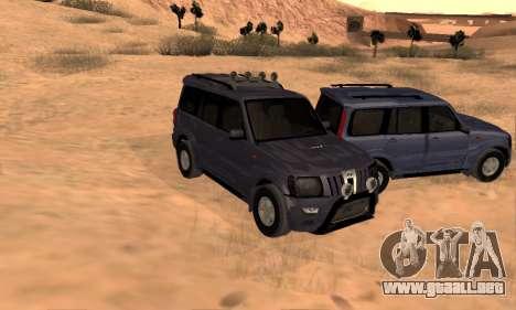 Mahindra Scorpio para GTA San Andreas interior