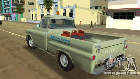 Chevrolet Apache Fleetside 1958 para GTA Vice City vista lateral izquierdo