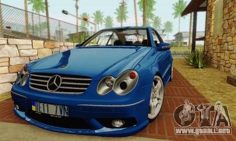 Mercedes-Benz CLK55 AMG 2003 para GTA San Andreas vista posterior izquierda