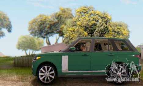 Range Rover Vogue 2014 V1.0 UK Plate para la vista superior GTA San Andreas