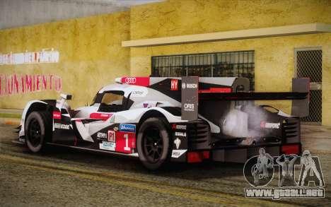 Audi R18 E-tron Quattro 2014 para GTA San Andreas left