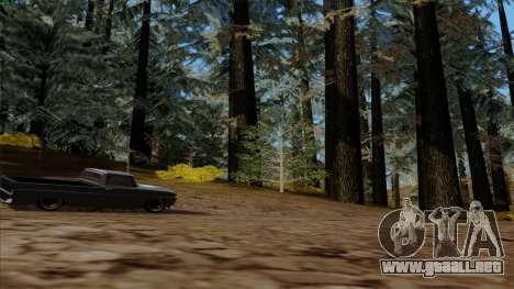 El denso bosque v2 para GTA San Andreas quinta pantalla