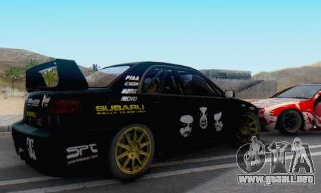 Subaru Impreza WRC STI Black Metal Rally para GTA San Andreas left