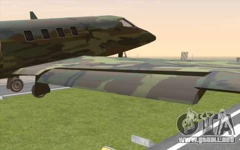 Camouflage Shamal para la visión correcta GTA San Andreas