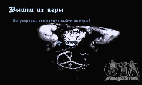 Black Metal Menú (pantalla completa) para GTA San Andreas octavo de pantalla