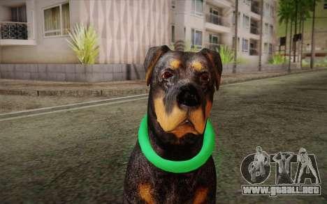 Rottweiler from GTA V para GTA San Andreas tercera pantalla