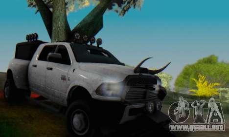 Dodge Ram 3500 Super Reforzada para la vista superior GTA San Andreas