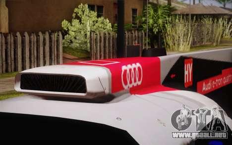 Audi R18 E-tron Quattro 2014 para GTA San Andreas vista hacia atrás
