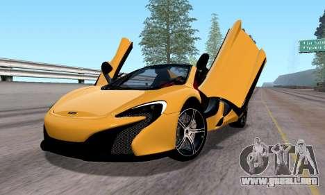 McLaren 650S Spyder 2014 para GTA San Andreas left
