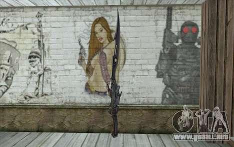 Lightnings Sword from Final Fantasy para GTA San Andreas segunda pantalla