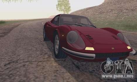 Ferrari Dino 246 GTS Coupe para la visión correcta GTA San Andreas