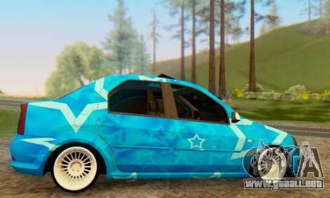 Dacia Logan Blue Star para la visión correcta GTA San Andreas