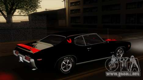 Pontiac GTO The Judge Hardtop Coupe 1969 para el motor de GTA San Andreas