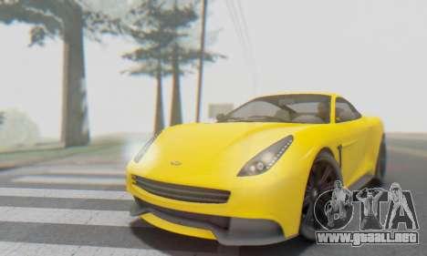 Dewbauchee Massacro 1.0 para la vista superior GTA San Andreas