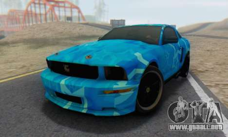 Ford Mustang Shelby Blue Star Terlingua para GTA San Andreas