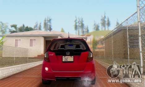 Honda Fit Stock 2009 para GTA San Andreas vista hacia atrás