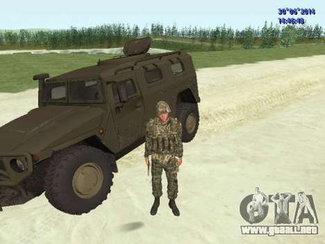 El combatiente del ejército ruso para GTA San Andreas novena de pantalla