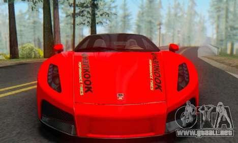 GTA Spano 2014 HQLM para GTA San Andreas vista posterior izquierda