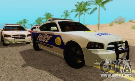 Pursuit Edition Police Dodge Charger SRT8 para GTA San Andreas vista posterior izquierda