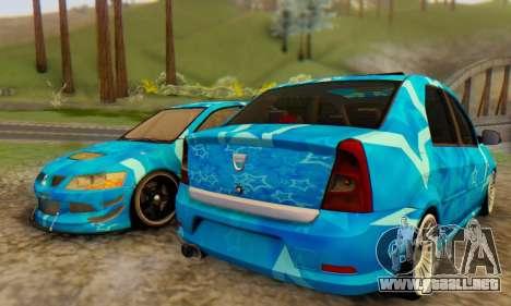 Dacia Logan Blue Star para GTA San Andreas vista posterior izquierda