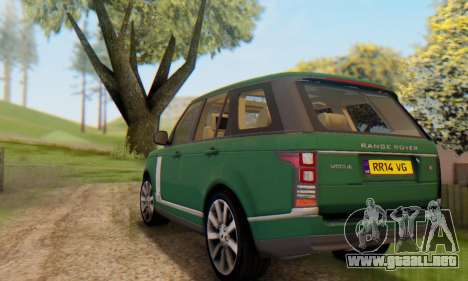 Range Rover Vogue 2014 V1.0 UK Plate para vista inferior GTA San Andreas
