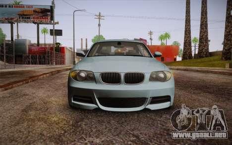 BMW 135i Limited Edition para GTA San Andreas vista hacia atrás