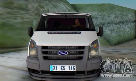 Ford Transit Pikap para GTA San Andreas left