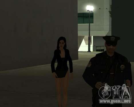 Black Dressed Girl para GTA San Andreas séptima pantalla