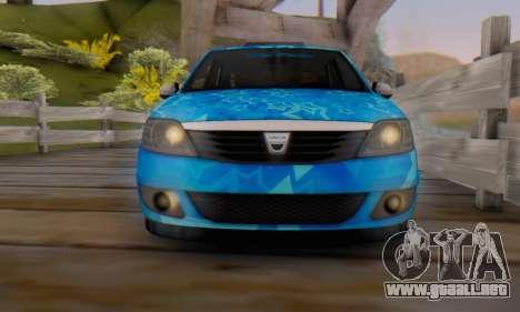 Dacia Logan Blue Star para vista inferior GTA San Andreas