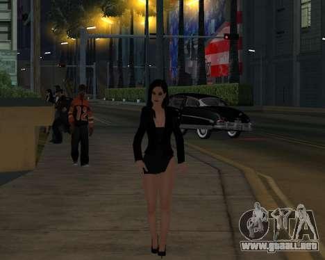 Black Dressed Girl para GTA San Andreas quinta pantalla