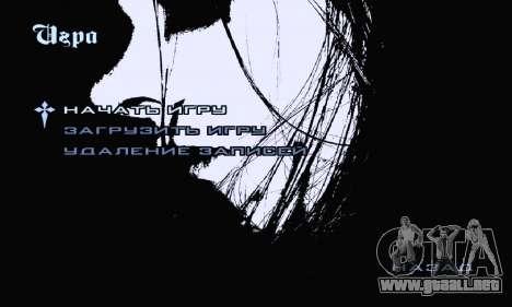 Black Metal Menú (pantalla completa) para GTA San Andreas tercera pantalla