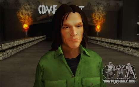 Sam Winchester из Sobrenatural para GTA San Andreas tercera pantalla
