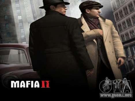 La pantalla de arranque de Mafia II para GTA San Andreas sucesivamente de pantalla