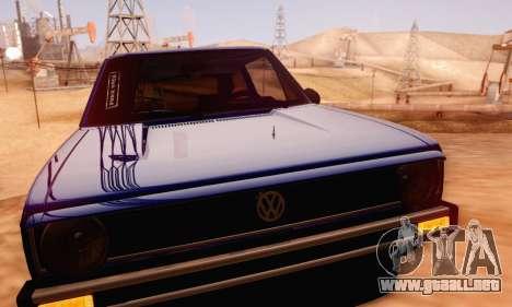 Volkswagen Golf Mk I Punk para visión interna GTA San Andreas