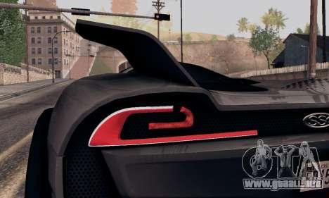SSC Tuatara 2011 para visión interna GTA San Andreas