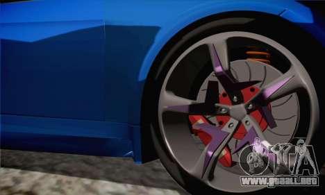 BMW M3 E92 SHDru Tuning para GTA San Andreas vista posterior izquierda
