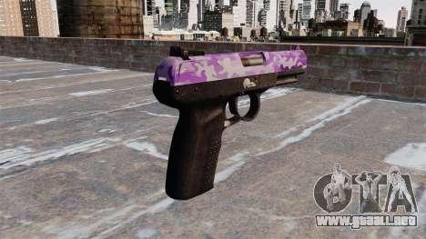 Pistola FN Five seveN Púrpura Camo para GTA 4 segundos de pantalla