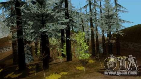 El denso bosque v2 para GTA San Andreas tercera pantalla