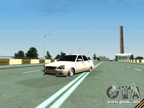 VAZ 2110-2170 para GTA San Andreas vista hacia atrás
